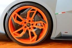 Detalles de la rueda de Lamborghini Veneno imágenes de archivo libres de regalías