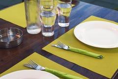 Detalles de la tabla del almuerzo Fotos de archivo libres de regalías