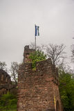 Detalles de la torre de Clingerburg en Klingenberg Foto de archivo