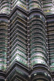 Detalles de la torre gemela de Petronas, Kuala Lumpur, Malasia Imagen de archivo