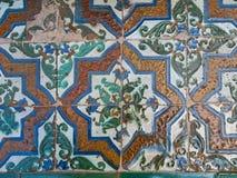 Detalles de las baldosas cer?micas del estilo hermoso de Valencia imágenes de archivo libres de regalías