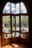 Detalles de las casas Batllo. Barcelona - España Imágenes de archivo libres de regalías
