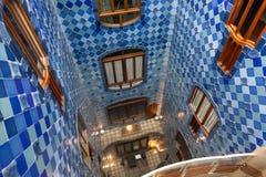 Detalles de las casas Batllo. Barcelona - España Foto de archivo