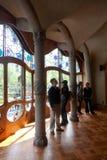 Detalles de las casas Batllo. Barcelona - España Fotografía de archivo