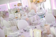 Detalles de las decoraciones de la boda Fotos de archivo libres de regalías