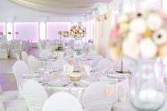 Detalles de las decoraciones de la boda Imagenes de archivo