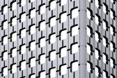 Detalles de las ventanas de un rascacielos Imagen de archivo