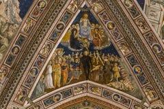Detalles de los di San Giovanni, Siena, Italia del battistero Imagen de archivo libre de regalías