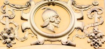 Detalles de los edificios de Art Nouveau Foto de archivo