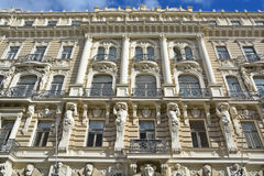 Detalles de los edificios de Art Nouveau Fotos de archivo