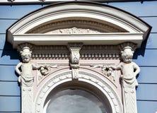 Detalles de los edificios de Art Nouveau Imagenes de archivo