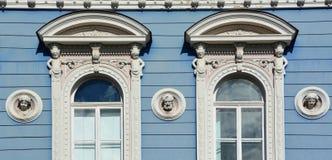 Detalles de los edificios de Art Nouveau Imágenes de archivo libres de regalías