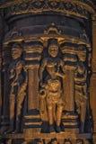 Detalles de madera en el santuario de la verdad Foto de archivo
