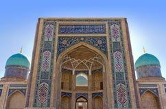 Detalles de Madrasah Burokhon Foto de archivo libre de regalías