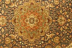 Detalles de modelos azules complejos en alfombras turcas fotos de archivo