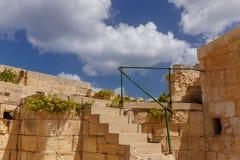 Detalles de paredes en el fuerte St Elmo Fotografía de archivo