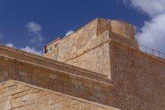 Detalles de paredes en el fuerte St Elmo Foto de archivo
