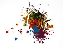 Detalles de pintura modernos de acr?lico con contraste vibrante fotos de archivo