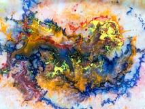 Detalles de pintura modernos de acr?lico con contraste vibrante foto de archivo