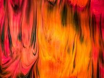 Detalles de pintura modernos de acr?lico con contraste vibrante ilustración del vector