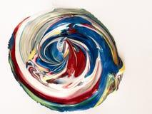 Detalles de pintura modernos de acr?lico con contraste vibrante fotos de archivo libres de regalías