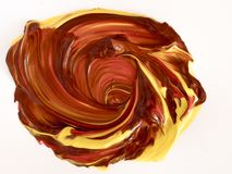 Detalles de pintura modernos de acr?lico con contraste vibrante foto de archivo libre de regalías