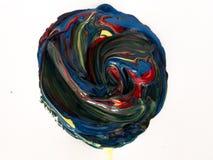 Detalles de pintura modernos de acr?lico con contraste vibrante fotografía de archivo libre de regalías