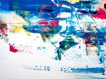 Detalles de pintura modernos de acr?lico con contraste vibrante imagen de archivo