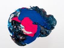 Detalles de pintura modernos de acr?lico con contraste vibrante imagenes de archivo