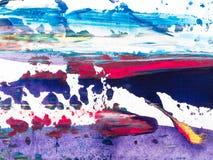 Detalles de pintura modernos de acr?lico con contraste vibrante imagen de archivo libre de regalías