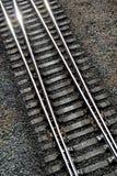 Detalles de pistas ferroviarias Foto de archivo