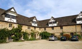 Detalles de tierra de la abadía de Lacock en Inglaterra Foto de archivo libre de regalías