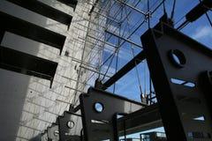 Detalles de un edificio moderno de la configuración Imagen de archivo