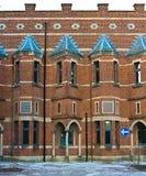 Detalles de un edificio neogótico Fotos de archivo libres de regalías