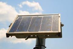 Detalles de un pequeño panel solar Imágenes de archivo libres de regalías