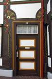 Detalles de una casa en el centro de Hameln, en Alemania imagenes de archivo