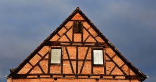 Detalles de una casa enmaderada foto de archivo libre de regalías