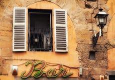 02 05 2016 - Detalles de una fachada en Florencia Fotografía de archivo libre de regalías