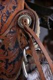 Detalles de una silla de montar del ` s del vaquero Fotos de archivo