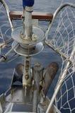 Detalles del ancla en la nave Fotos de archivo libres de regalías
