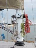 Detalles del barco de navegación Foto de archivo
