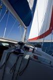 Detalles del barco de vela Fotos de archivo libres de regalías