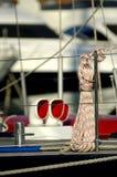 Detalles del barco de vela Imagen de archivo libre de regalías