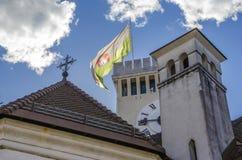Torre del castel de Ljubljana Imagen de archivo libre de regalías