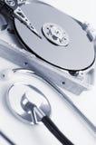 Detalles del disco duro Imagen de archivo