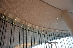 Detalles del diseño de los interiores de un edificio fotografía de archivo