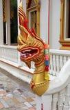 Detalles del dragón en el templo de Chalong Foto de archivo