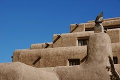 Detalles del edificio de Adobe, Santa Fe Imagenes de archivo
