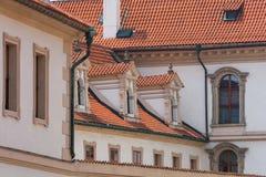 Detalles del edificio en Praga Imagen de archivo