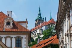 Detalles del edificio en Praga Foto de archivo